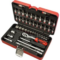 "Faithfull 43 Piece 1/4"" Drive Socket and Screwdriver Bit Set"