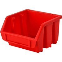 Faithfull Ergobox Interlocking Storage Bin Red
