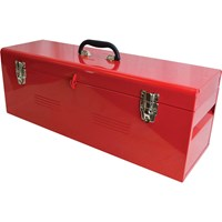 Faithfull Heavy Duty Metal Tool Box and Tote Tray