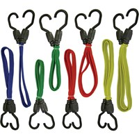 Faithfull 8 Piece Assorted Bungee Cord / Elastic Strap Set