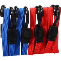 Faithfull 4 Piece Flat Bungee Cord Set