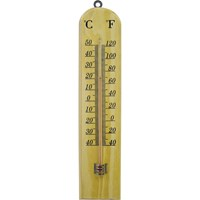Faithfull Wooden Wall Thermometer Small