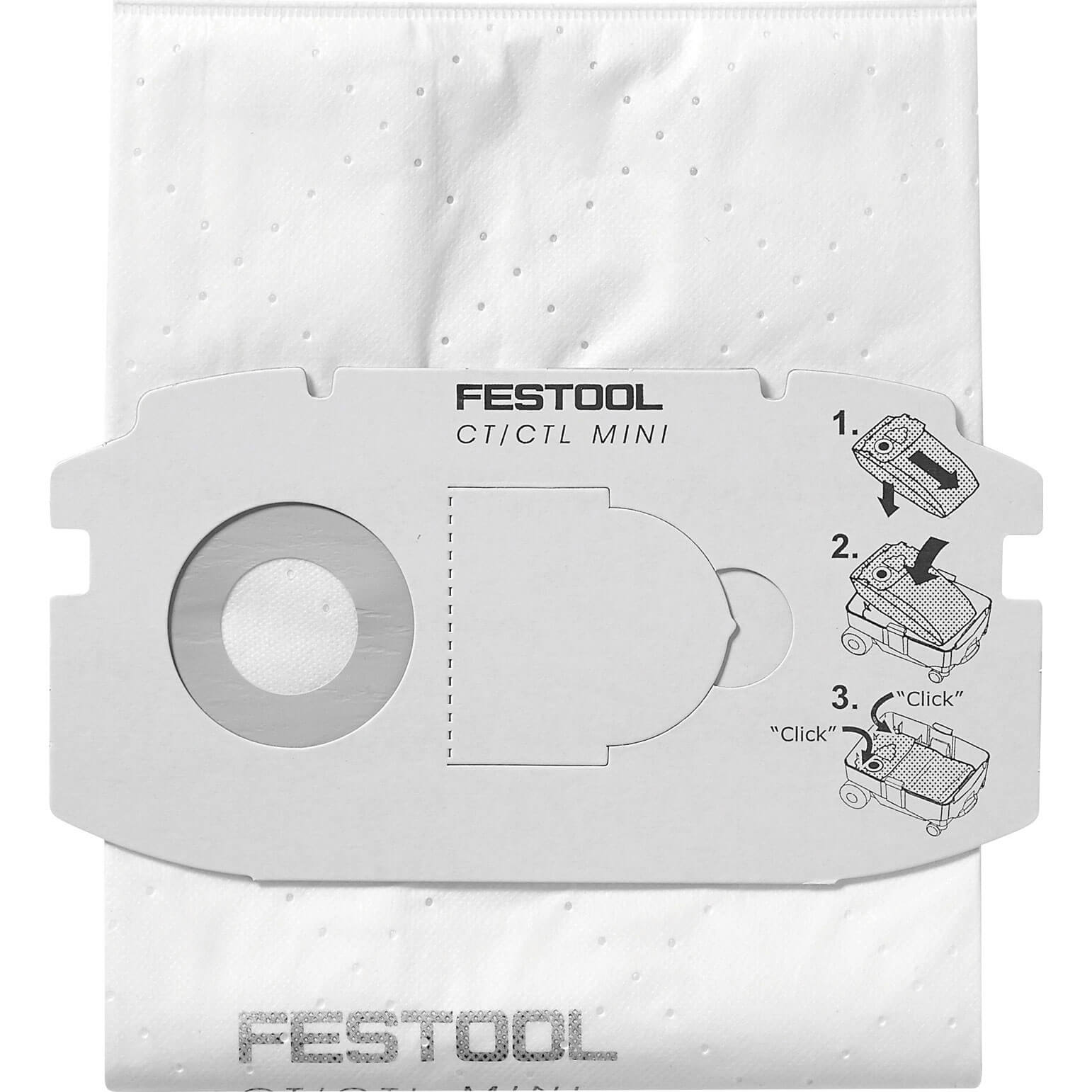 Festool Filter Bag For CT/CTL MIDI Extractors Pack of 5
