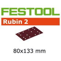 Festool Rubin 2 StickFix Sanding Sheets for Wood 80 x 133mm