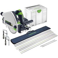 Festool TS55 REBQ Plunge Cut Circular Saw & Guide Rail Accessory Kit