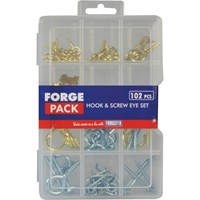 Forgefix ForgePack 102 Piece Hook and Screw Eye Kit