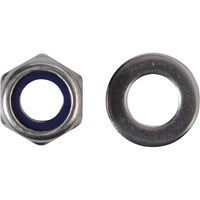Forgefix Stainless Steel Nyloc Nuts and Washers