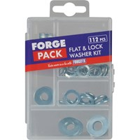 Forgefix Forge Pack 112 Piece Flat Washer Assortment Metric