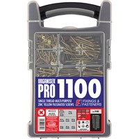 Forgefix 1100 Piece Organiser Pro Multi-Purpose Wood Screws