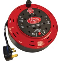 Faithfull 4 Socket Cable Extension Reel 240v