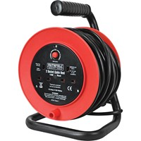 Faithfull 2 Socket Cable Extension Reel 240v