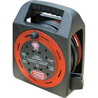 Faithfull Cassette Cable Extension Reel 240v
