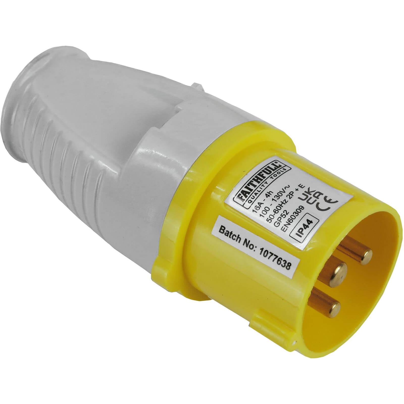 Faithfull Yellow Plug 16 amp 110v 110v