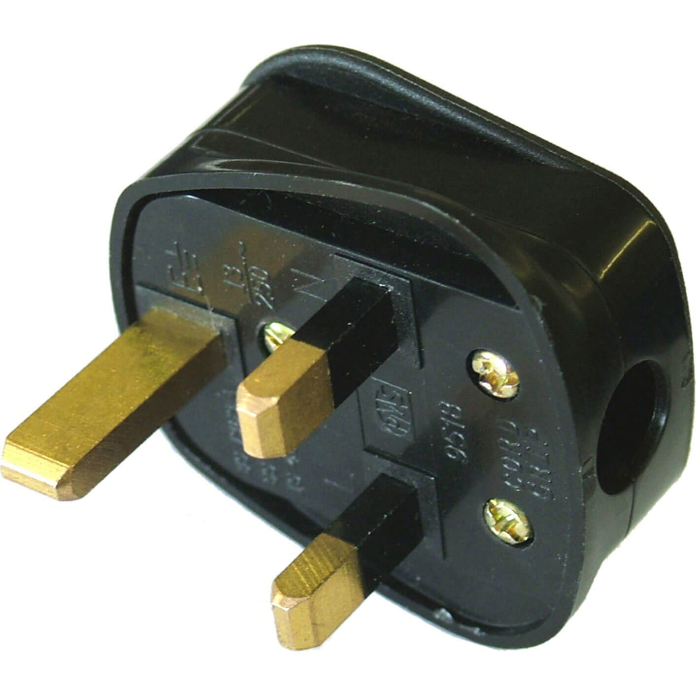 Faithfull Black Rubber Plug 13amp 240v