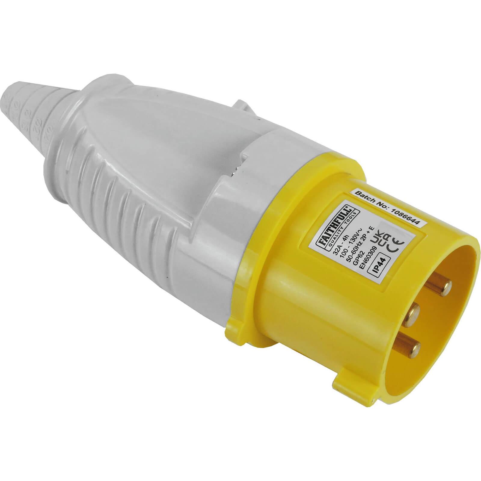 Faithfull Yellow Plug 32amp 110v