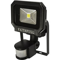 Faithfull COB LED Security Floodlight PIR Motion Detector 10w 650 Lumens