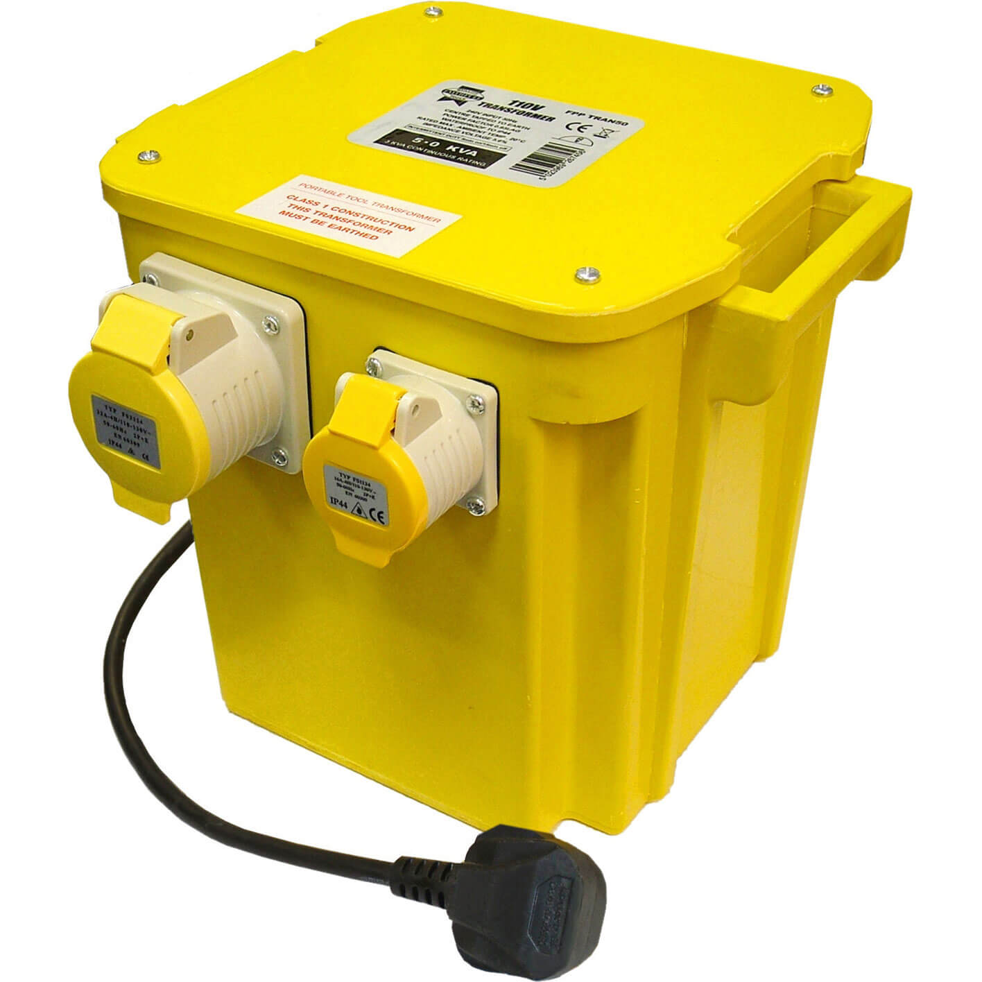 Image of Faithfull 110v Portable Transformer 5Kva 240v