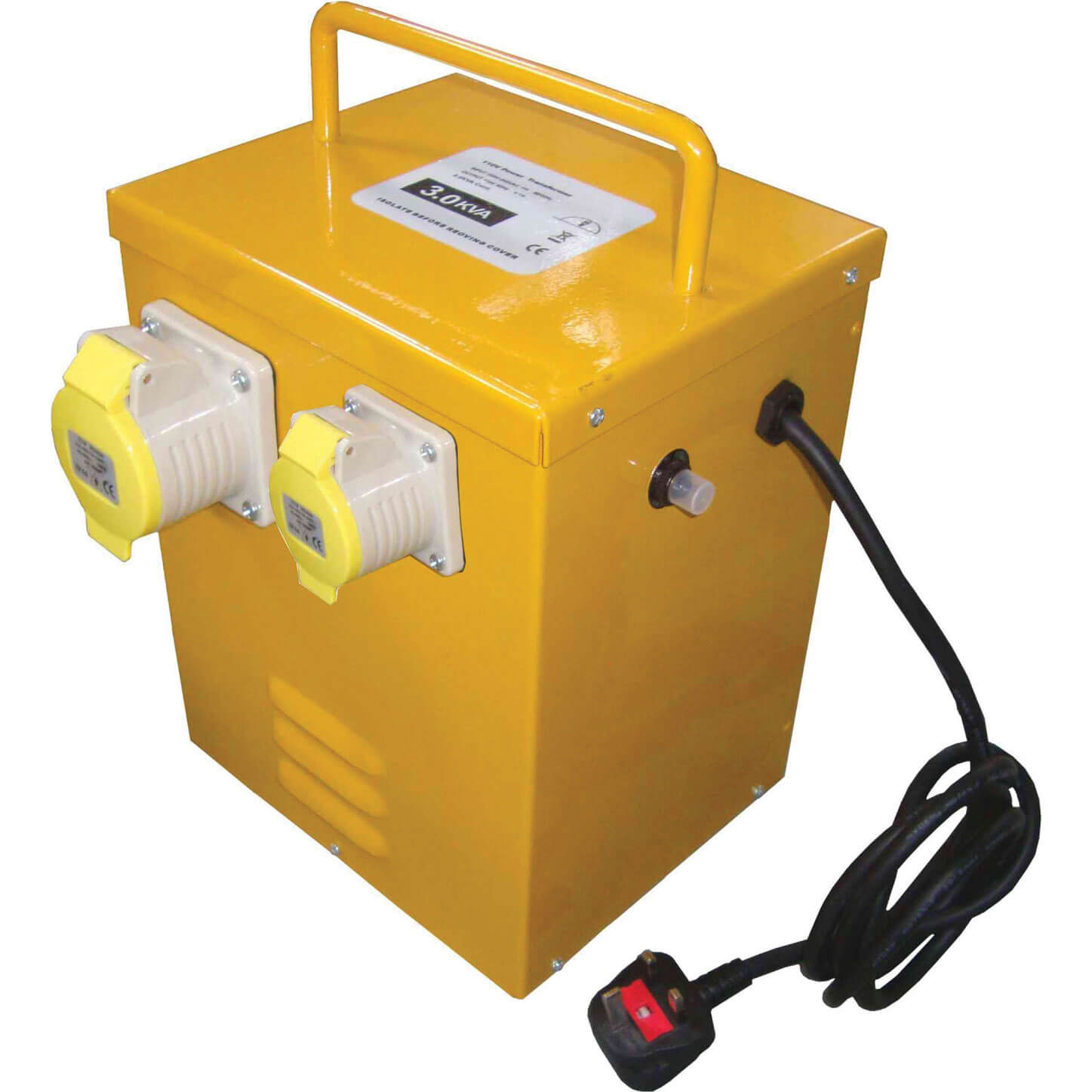 Image of Faithfull 110v Portable Continuous Rated Transformer 3Kva 240v