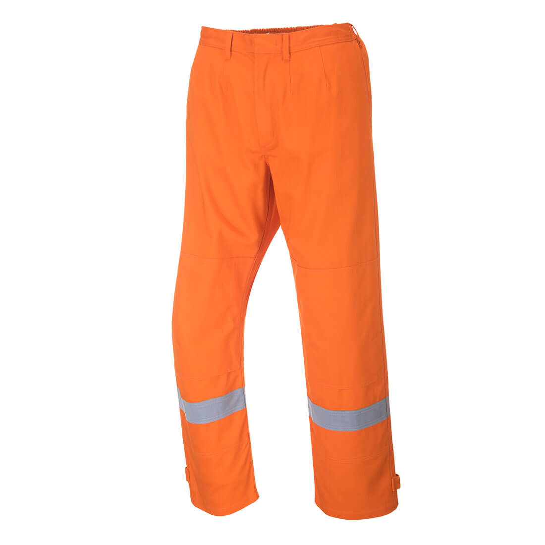 Image of Biz Flame Plus Mens Flame Resistant Trousers Orange Large 32""