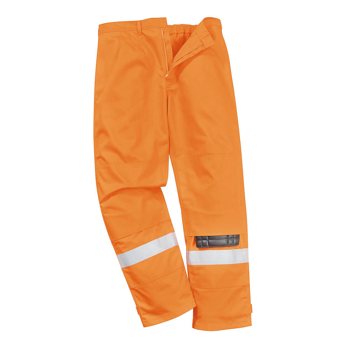 Image of Biz Flame Plus Mens Flame Resistant Trousers Orange Large 34""