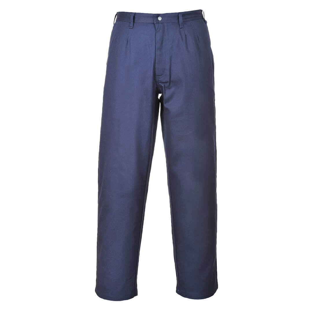 """Image of Biz Flame Pro Mens Flame Resistant Trousers Navy Blue Extra Large 34"""""""
