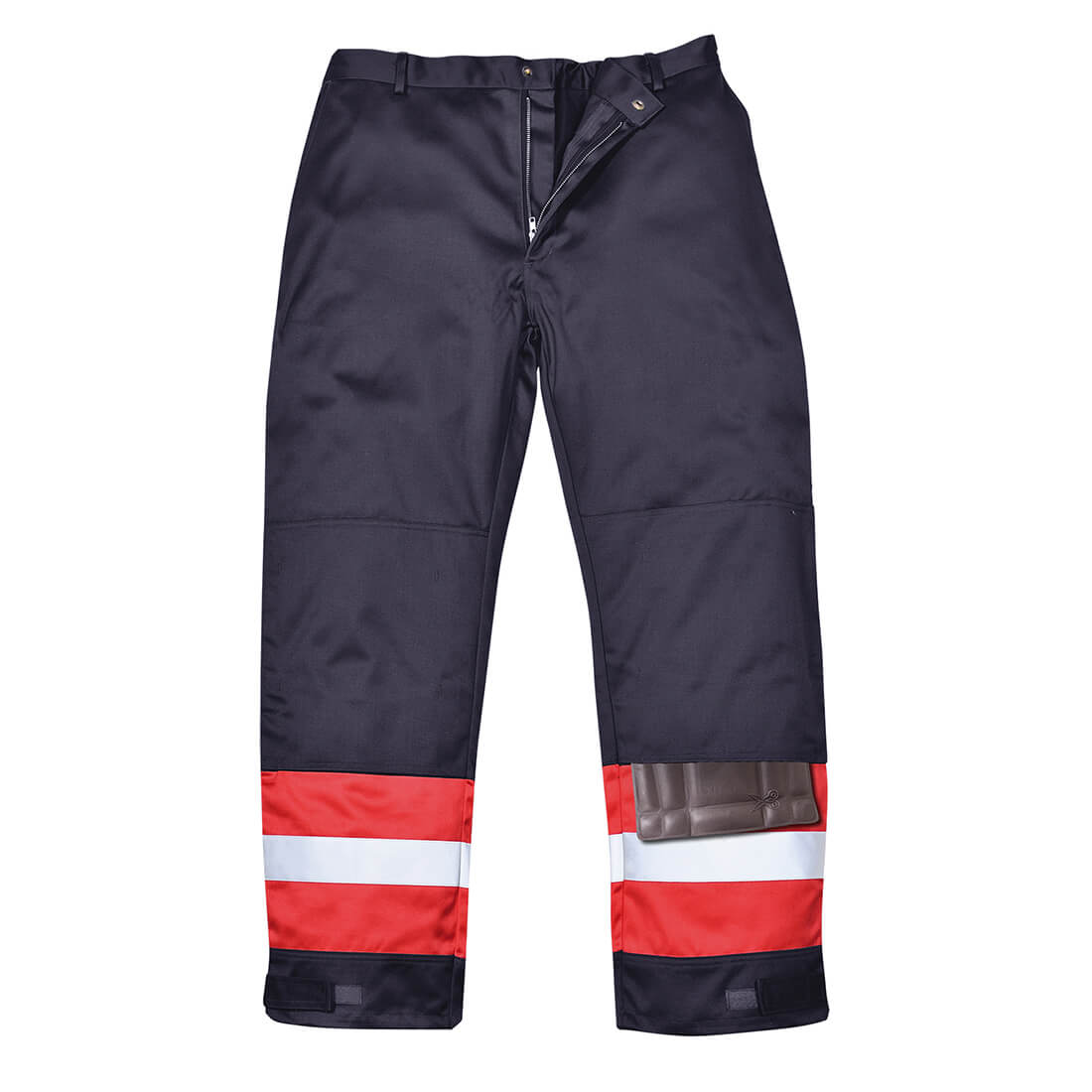 Image of Biz Flame Mens Flame Resistant Plus Trousers Navy Blue 2XL 32""