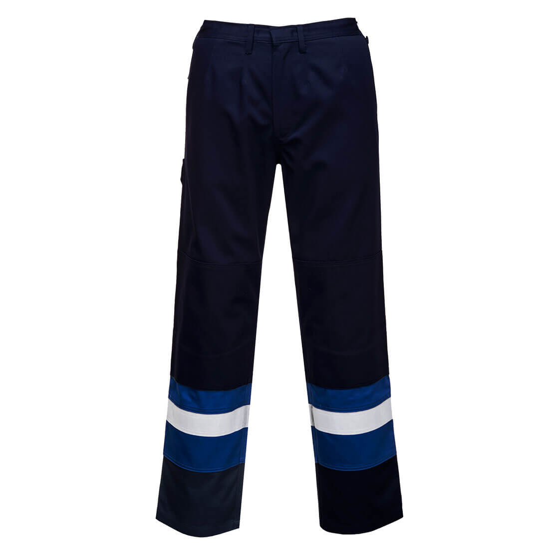 Image of Biz Flame Mens Flame Resistant Plus Trousers Navy / Royal Extra Large 32""