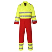 Biz Flame Mens Pro Flame Resistant Services Coverall