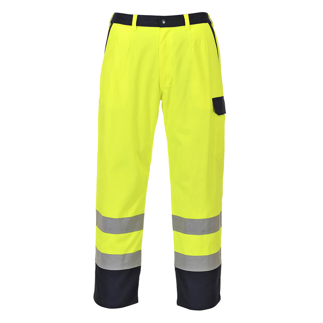Image of Biz Flame Pro Mens Flame Resistant Trousers Yellow 2XL