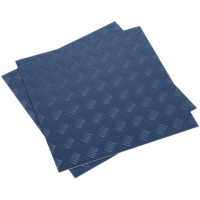 Sealey Treadplate Vinyl Floor Tile Peel and Stick Backing