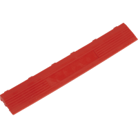 Sealey Anti Slip Polypropylene Female Edging Tile Red