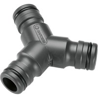 Gardena PROFI 3 Way Hose Pipe Y Adaptor