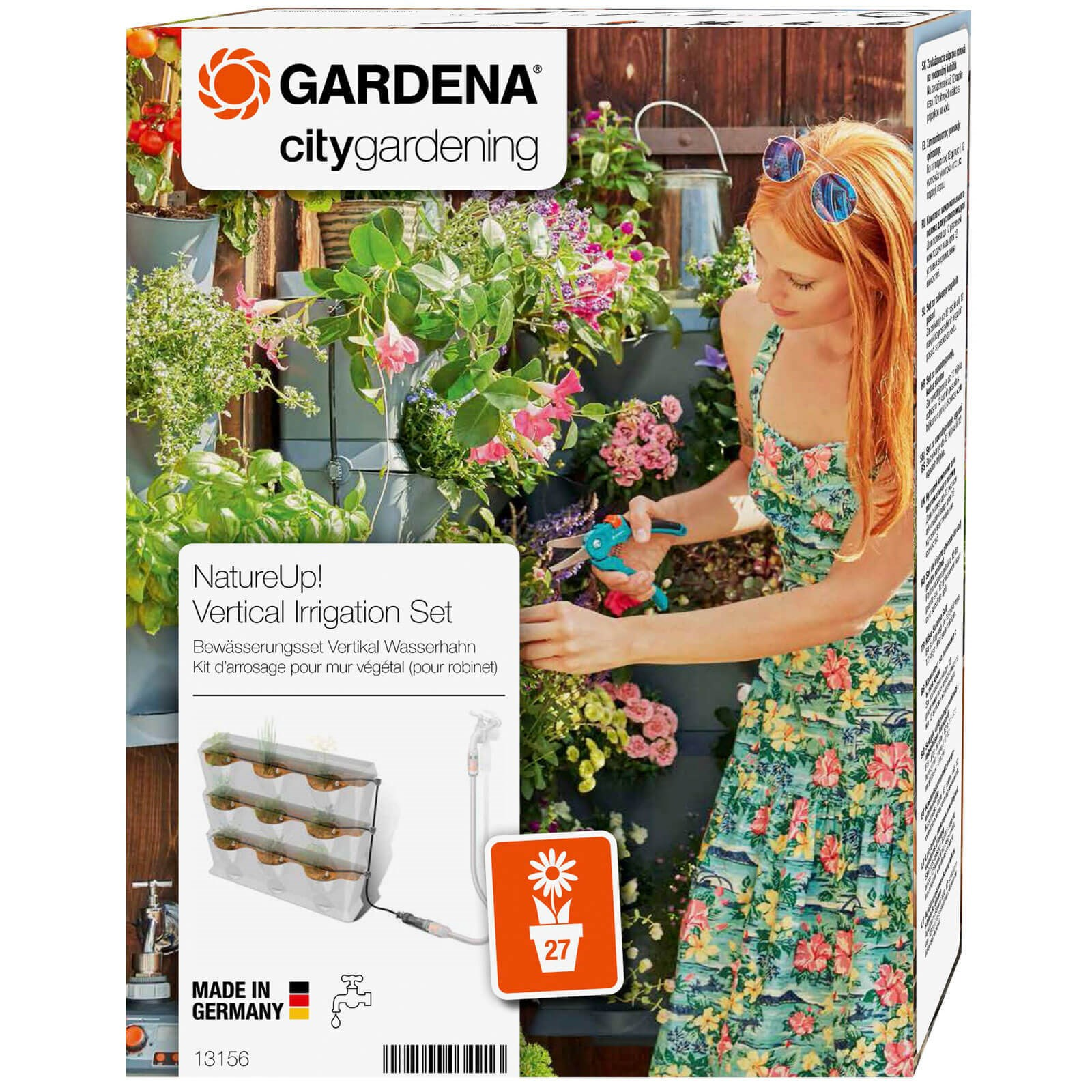 Mur Vegetal En Kit gardena natureup! 9 vertical planter watering set
