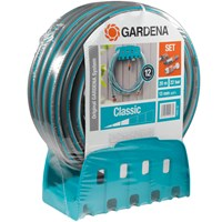 Gardena Classic Hose Pipe and Wall Bracket Set