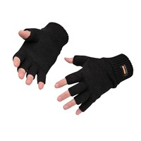 Portwest Fingerless Insulatex Lined Knit Gloves