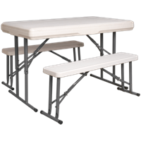 Sealey GL87 Portable Folding Table and Bench Set