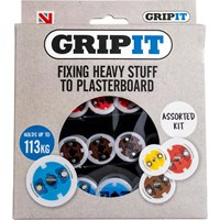 Gripit 32 Piece Assorted Plasterboard Fixings Kit