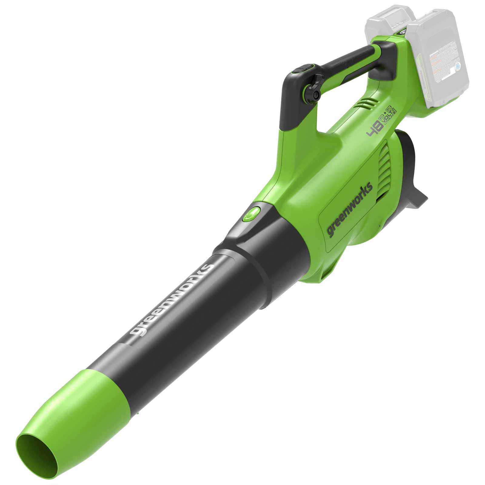 Greenworks G24X2AB 48v Cordless Axial Leaf Blower (Uses 2 x 24v) No Batteries No Charger