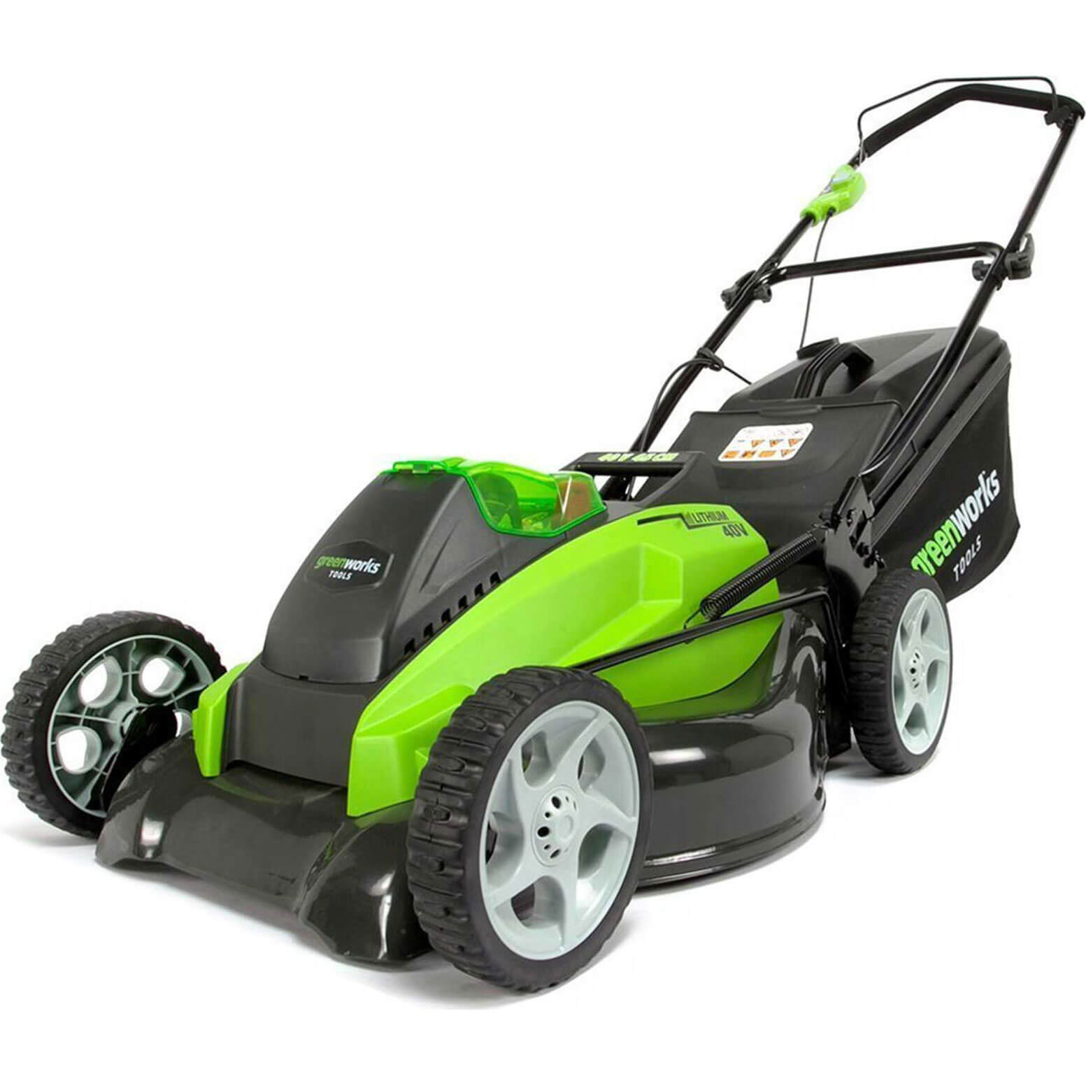 Image of Greenworks G40LM45 40v Cordless Rotary Lawnmower 450mm No Batteries No Charger