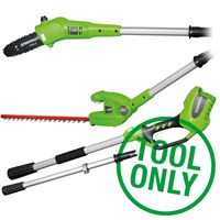 Greenworks G24PHT 24v Cordless Long Reach Hedge Trimmer & Tree Pruner Kit