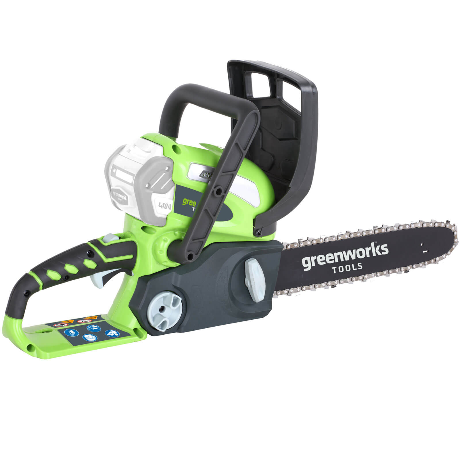 Greenworks G40CS30 40v Cordless Chainsaw 300mm No Batteries No Charger