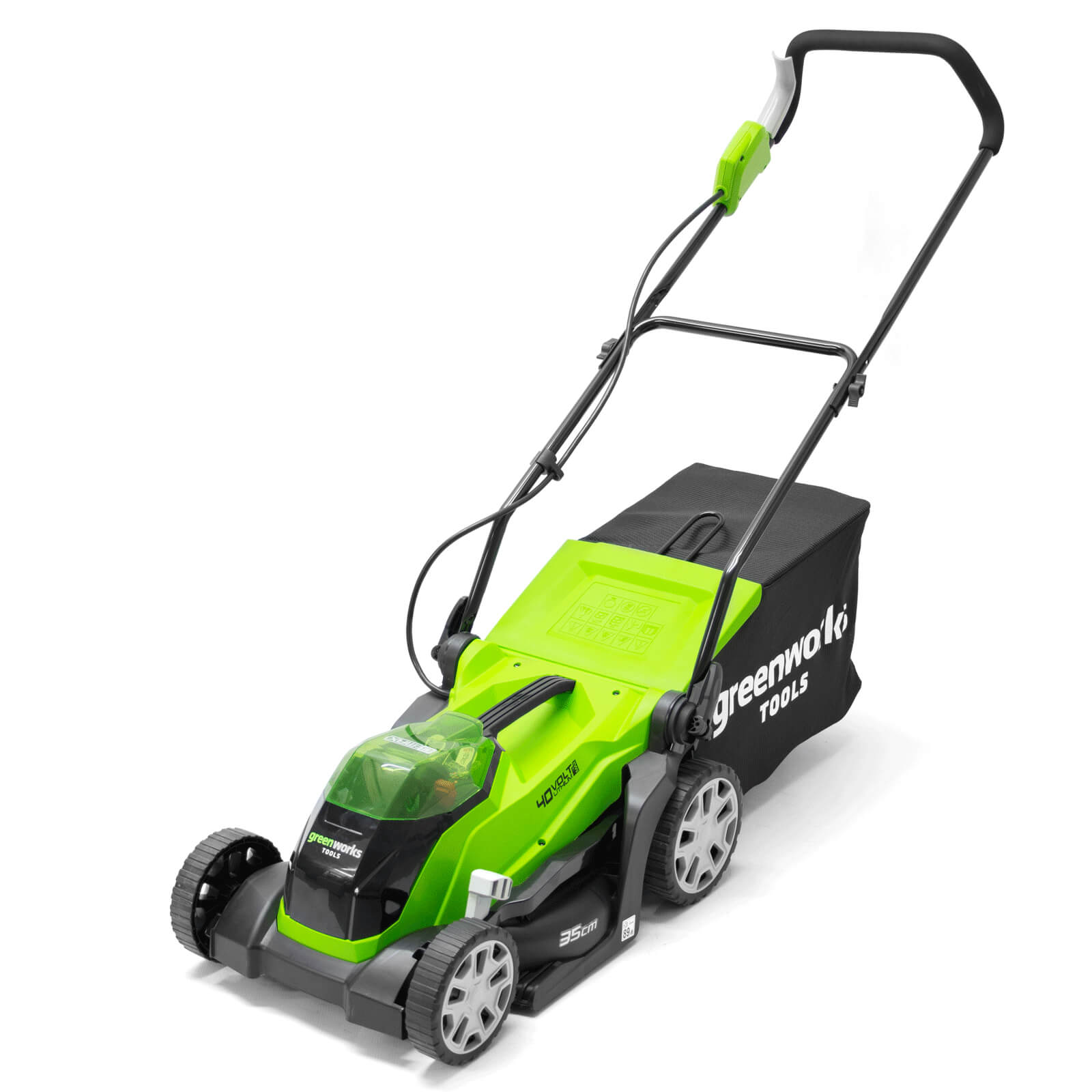 Image of Greenworks G40LM35 40v Cordless Rotary Lawnmower 350mm No Batteries No Charger