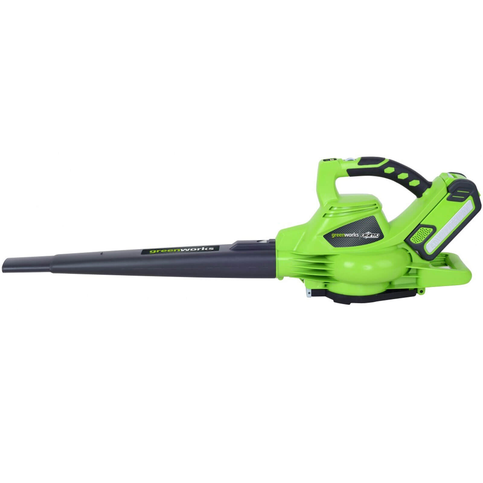 Greenworks GD40BV 40v Cordless Brushless Garden Vacuum & Leaf Blower 2 x 2ah Liion Charger