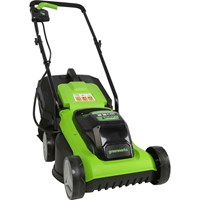 Greenworks G24LM33 24v Cordless Rotary Lawnmower 330mm