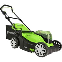 Greenworks G24X2LM41K 48v Cordless Rotary Lawnmower 410mm (Uses 2 x 24v)