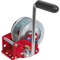 Sealey Hardened Steel Geared Hand Winch with Automatic Brake