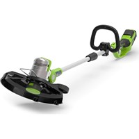 Greenworks G24LT 24v Cordless Deluxe Grass Trimmer and Edger 300mm