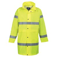 Portwest Hi Vis Long Rain Coat