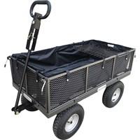 Handy THDLGT Large Steel Garden Trolley with Liner, Tray and Punctureless Wheels