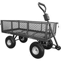 Handy THGT Small Steel Garden Trolley with Punctureless Wheels